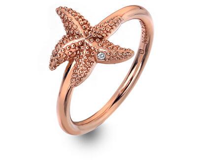 Luxusné ružovo pozlátený prsteň s pravým diamantom Daisy RG DR212