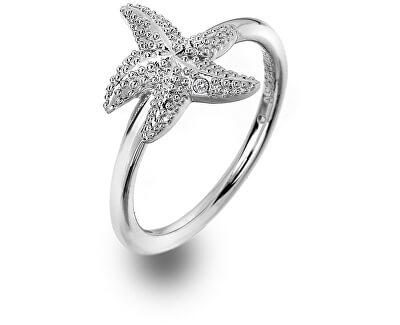 Luxusný strieborný prsteň s pravým diamantom Daisy DR213