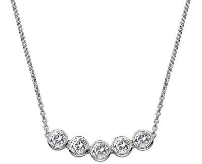 Nežný strieborný náhrdelník s topaz a pravým diamantom Willow DN129