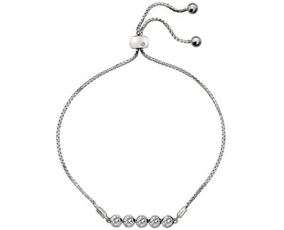 Nežný strieborný náramok s topaz a pravým diamantom Willow DL581