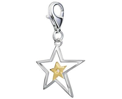 Pandantiv Stea cu diamant Love Luck Happiness DT023