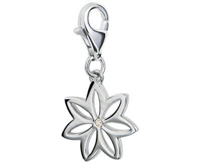 Pandantiv Floare cu diamant Love Luck Happiness DT002