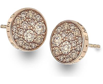 Cercei de argint Hot Diamonds Emozioni Scintilla Champagne Rose DE455