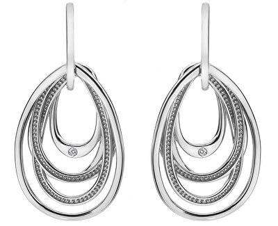 Silber Ohrringe mit Diamanten Chandelier Vintage Drop DE496