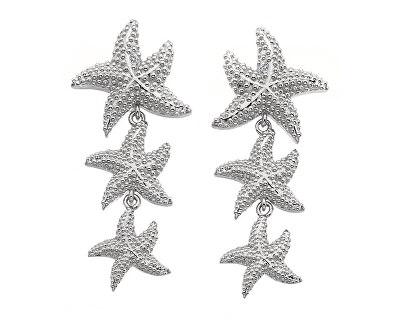 Strieborné náušnice s pravými diamantmi Daisy DE601