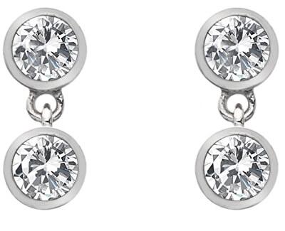 Strieborné náušnice s topaz a pravým diamantom Willow DE586