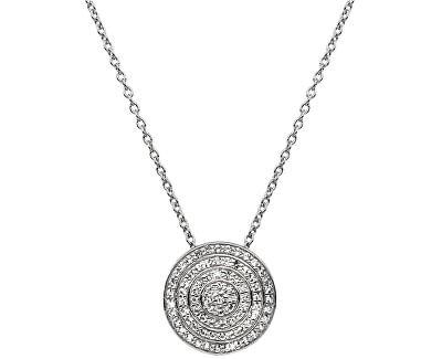 Strieborný náhrdelník s pravým diamantom Flora DP719 (retiazka, prívesok)