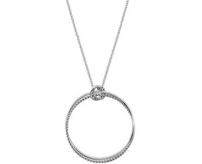 Strieborný náhrdelník s pravým diamantom Jasmine DP739