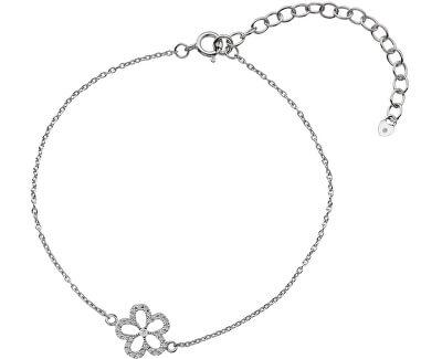 Strieborný náramok s pravým diamantom Daisy DL579