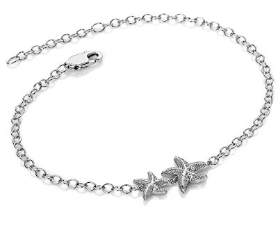 Strieborný náramok s pravým diamantom Daisy DL587