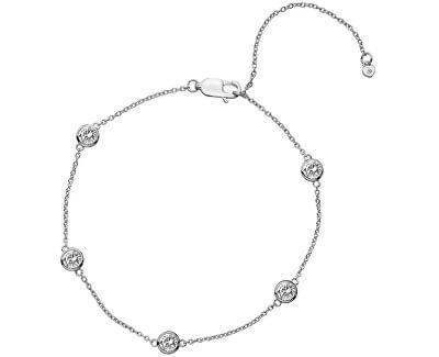 Strieborný náramok s topaz a pravým diamantom Willow DL580
