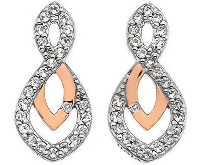 Trblietavé náušnice s pravým diamantom Lily RG DE608