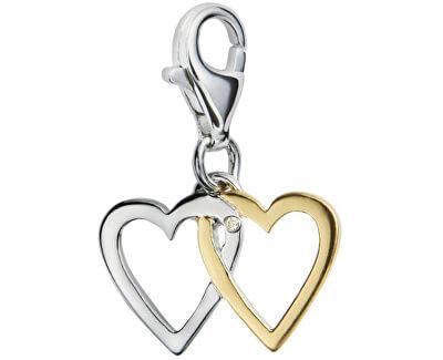 Pandantiv Îndrăgostiți cu diamant Love Luck Happiness DT025