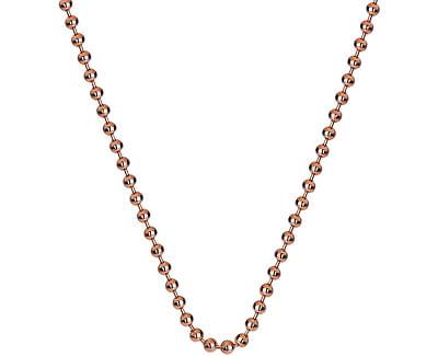 Stříbrný řetízek Emozioni Rose Gold Bead Chain 18 CH007