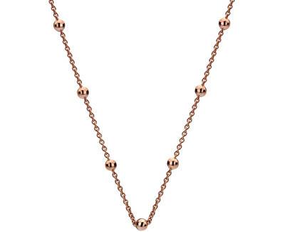 Stříbrný řetízek Emozioni Rose Gold Cable with Ball CH004