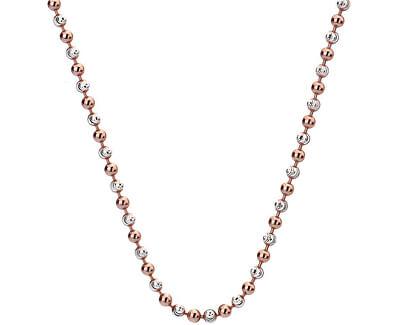 Stříbrný řetízek Emozioni Silver and Rose Gold Bead 45 CH019