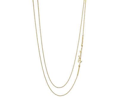 Damen vergoldete Halskette mit Logo JCNL00080200