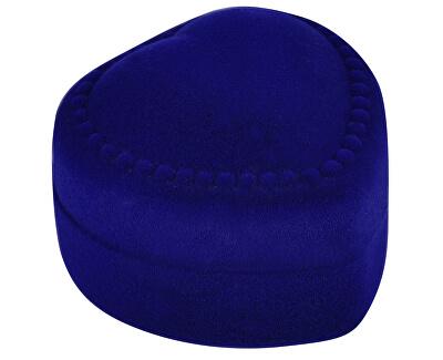 Modrá darčeková krabička na náušnice Srdce F-75 / NA / A14