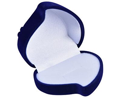 Modrá dárková krabička na náušnice nebo prsten Srdce F-79/A14