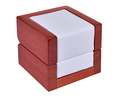 Světlá dřevěná krabička na prsten DN-2/A1