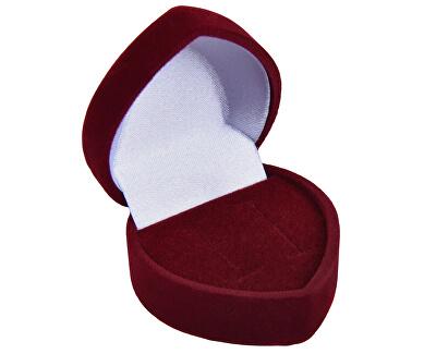 Bordó darčeková krabička na náušnice Srdce F-75 / NA / A10
