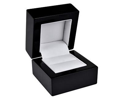 Čierna drevená krabička na prsteň BB-2 / A25