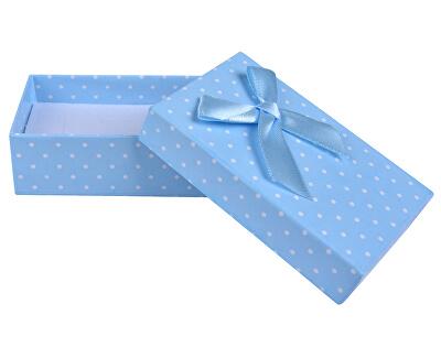Svetlo modrá bodkovaná krabička na súpravu šperkov KK-6 / A13