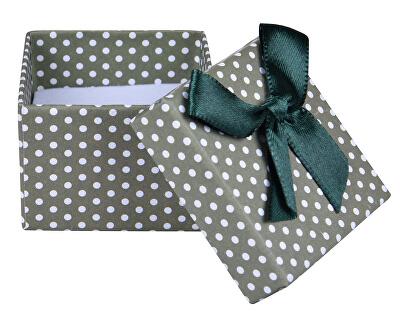 Zelená Bodkovaná krabička na náušnice alebo prsteň KKK-3 / A19
