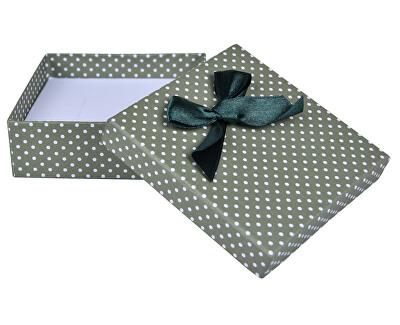 Zelená Bodkovaná krabička na súpravu šperkov KK-5 / A19