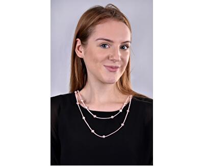 Dlhý kožený náhrdelník 3v1 s pravými perlami JL0496