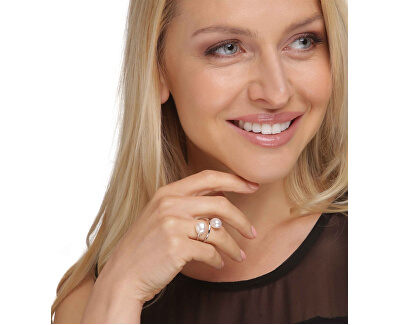 Inel stil baroc de lux cu perle reale JL0625