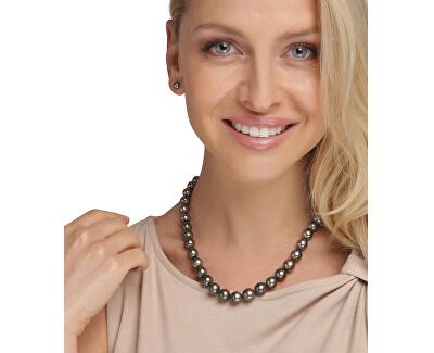 Luxusní náhrdelník s pravými černými tahitskými perlami JL0704