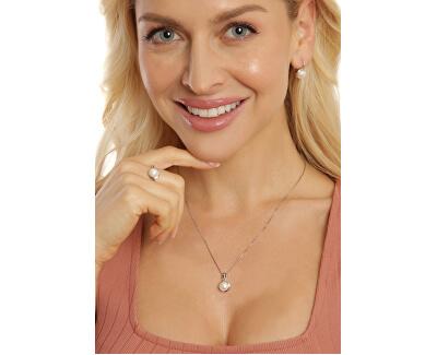 Něžný náhrdelník s pravou bílou perlou JL0676 (řetízek, přívěsek)