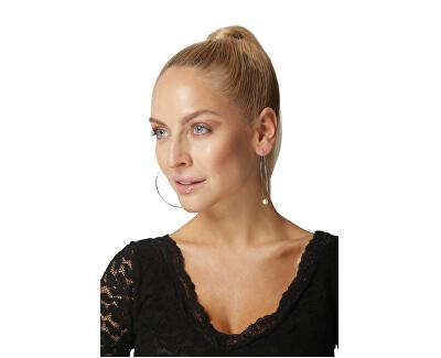 Vergoldete Ohrringe mit echten weißen Perlen JL0639