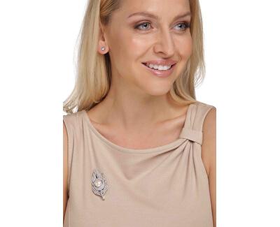 Překrásná brož peříčko 2v1 JL0628