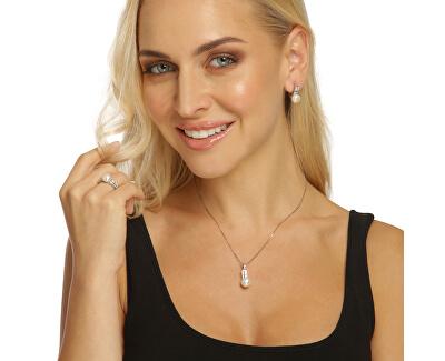 Zvýhodněná perlová souprava šperků JL0644 a JL0645 (náhrdelník, náušnice)
