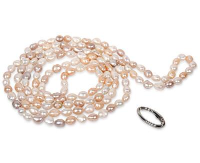 Colier lung din perle reale multicolor JL0140
