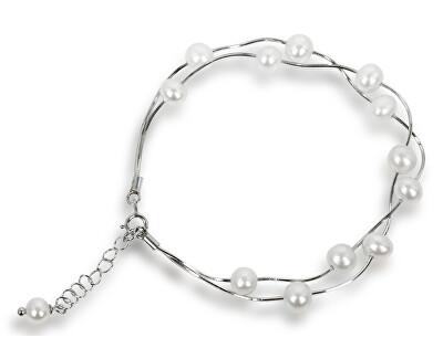 Brățară delicată cu perle reale albe JL0174
