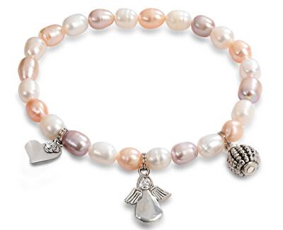 Brățară fină cu perle reale și cu ornamente JL0295