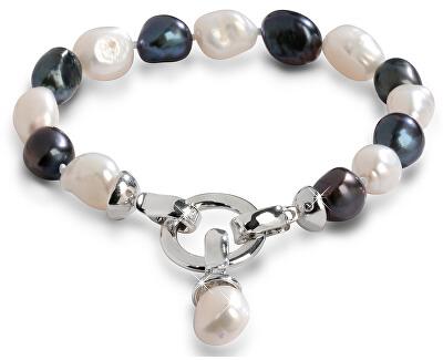 Armband aus echten Perlen in zwei Farbtönen JL0317