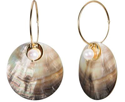Exkluzívne náušnice 4v1 s pravou perlou JL0458