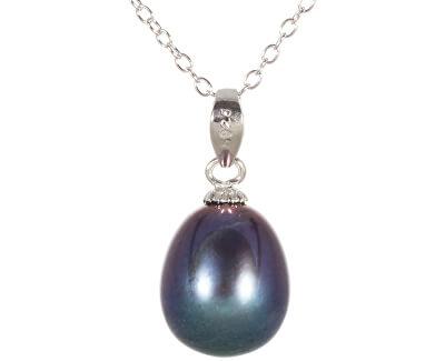 Prívesok s pravou modrou perlou JL0439