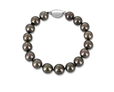 Luxusní náramek z tahitských černých perel JL0705