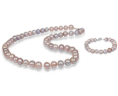 Zvýhodnená perlová súprava šperkov JL0266 a JL0361 (náramok, náhrdelník)