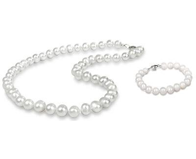 Zvýhodnená perlová súprava šperkov JL0264 a JL0362 (náramok, náhrdelník)
