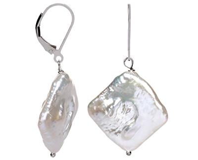 Stříbrné náušnice s pravou perlou JL0391