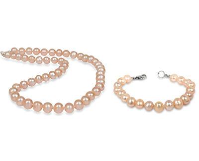 Zvýhodnená lososová súprava šperkov JL0267 a JL0142 (náramok, náhrdelník)