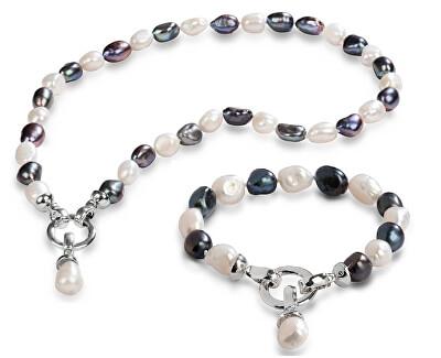 Zvýhodněná perlová souprava šperků JL0316 a JL0317 (náramek, náhrdelník)