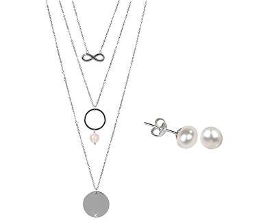 Zvýhodnená perlová súprava šperkov JL0420 a JL0026