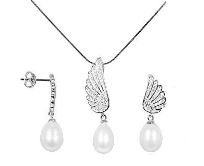Zvýhodněná perlová souprava šperků JL0534 a JL0535 (náhrdelník, náušnice)